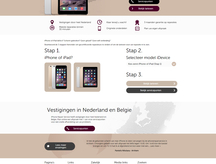 Nieuwe dealersite iPhone Repair Service